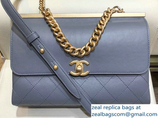 7f5292182b3c71 Chanel Coco Luxe Small Flap Bag A57086 Gray 2018 | Chanel in 2019 ...