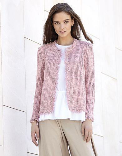 Chaqueta lana mujer crochet