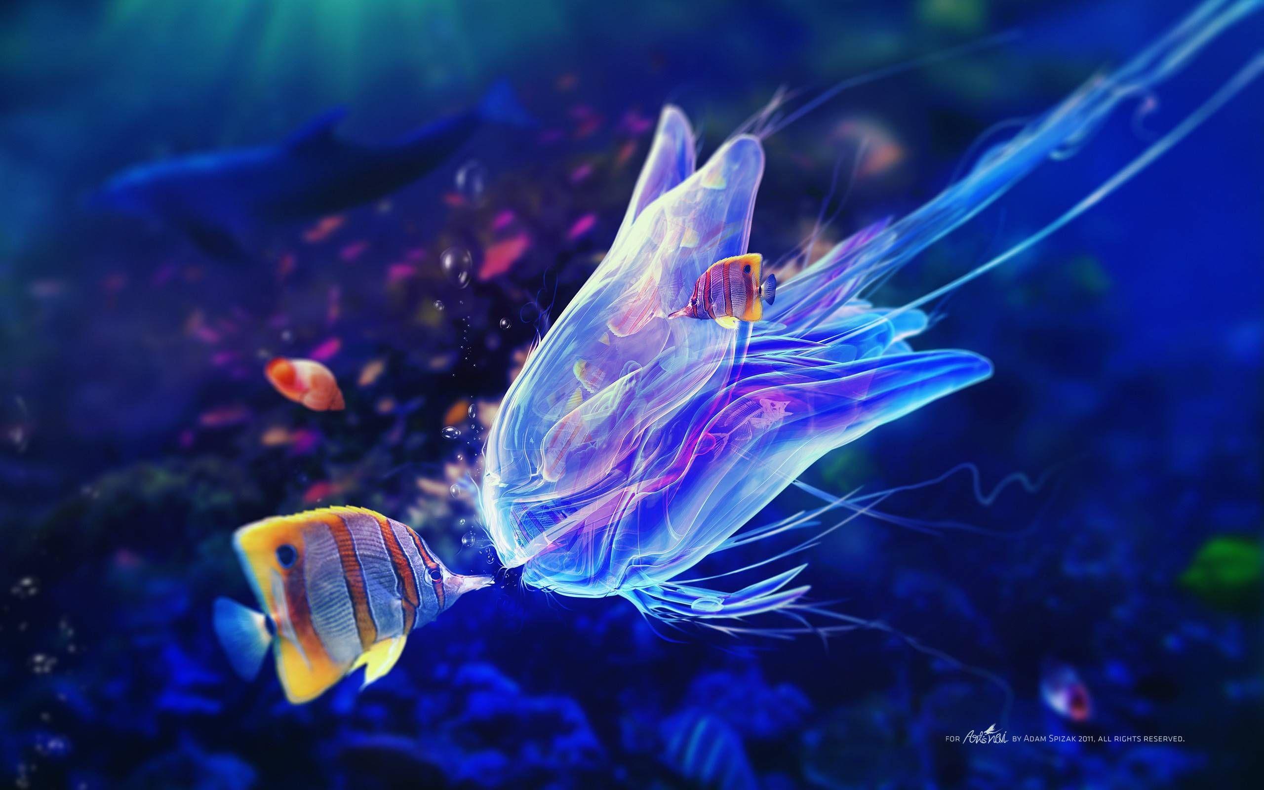 Marine Life Wallpapers Wallpaper Cave Deep Sea Creatures Fish