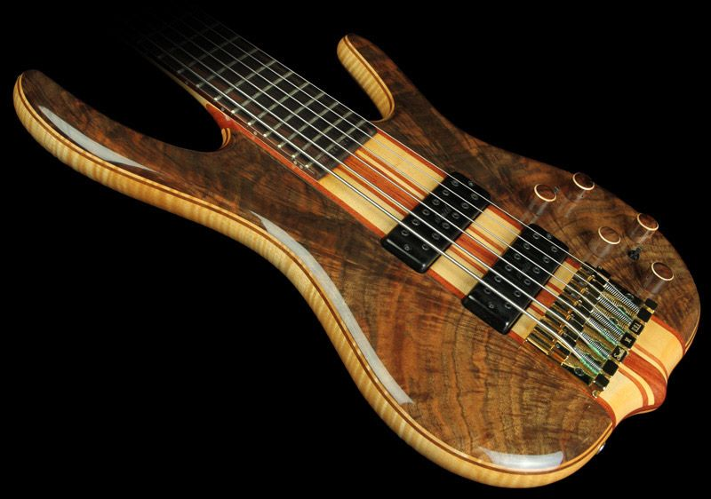 2002 Ken Smith Black Tiger Elite 6-String Bass Natural - Used