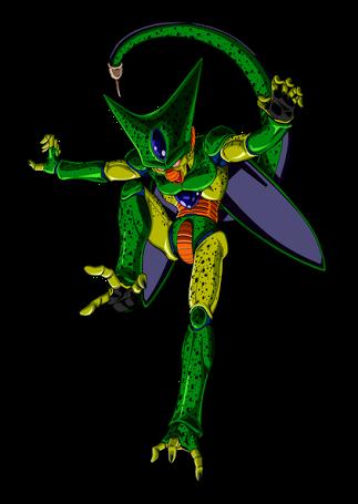 dbz cell imperfect form anime pinterest dragon ball