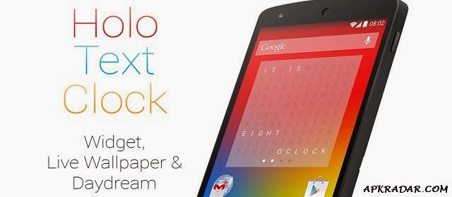 Holo Text Clock 2 1 APK Download Free | Places to Visit