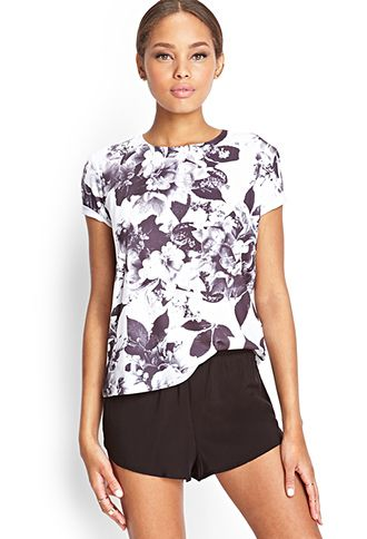 Floral Print Tee | FOREVER21 - such a classy graphic tee