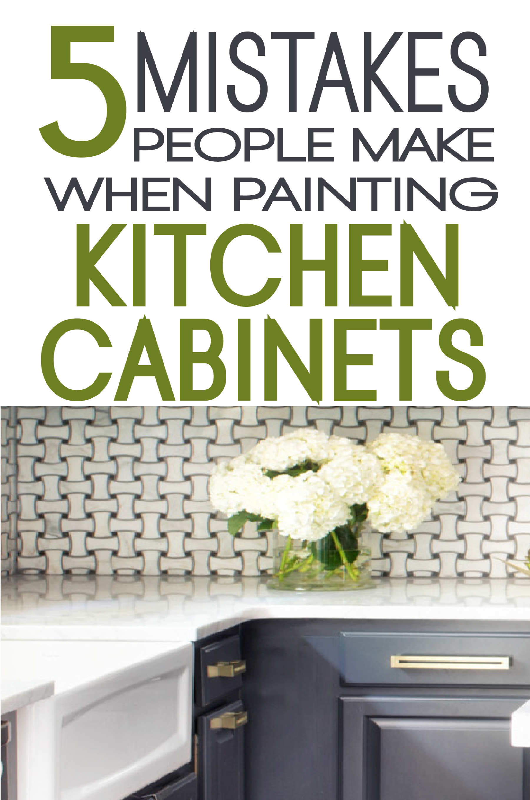 Learn From Others And Avoid These Common Mistakes Made When Painting  Kitchen Cabinets.