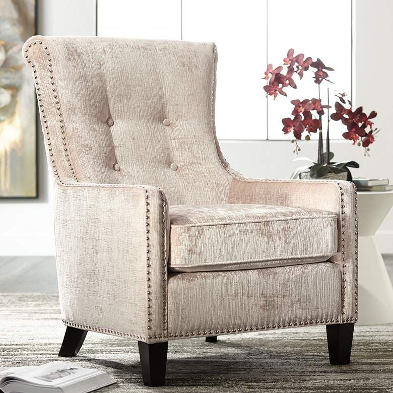Chantelle Heather Ivory Accent Chair 19r48 Lamps Plus
