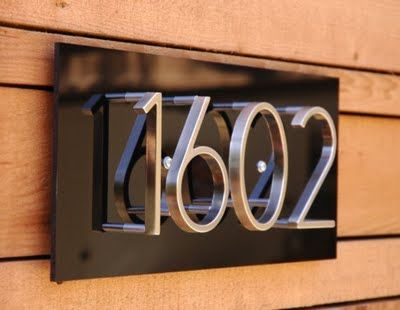 Pin On Mid Century Modern House Numbers