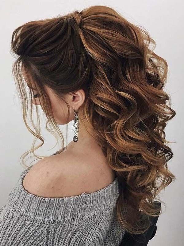 Trendy Swept-Back Wedding Hairstyles | Wedding hairstyles for long hair, Curls for long hair ...