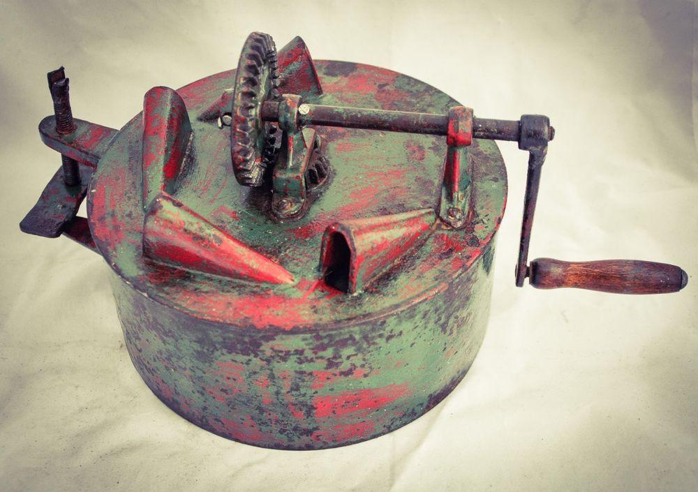 Antique BEAN SLICER 4 CUTTER Cast-Iron Hand Crank Cutter c1890 | Collectibles, Kitchen & Home, Kitchenware | eBay!