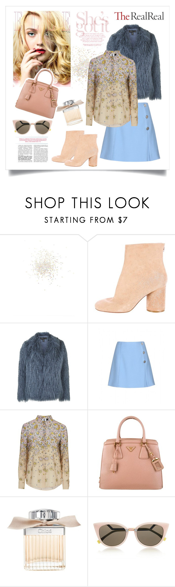 """""""Fall Style With The RealReal: Contest Entry"""" by maris-go-round ❤ liked on Polyvore featuring Topshop, Maison Margiela, Miu Miu, Unique, Prada, Chloé and Fendi"""