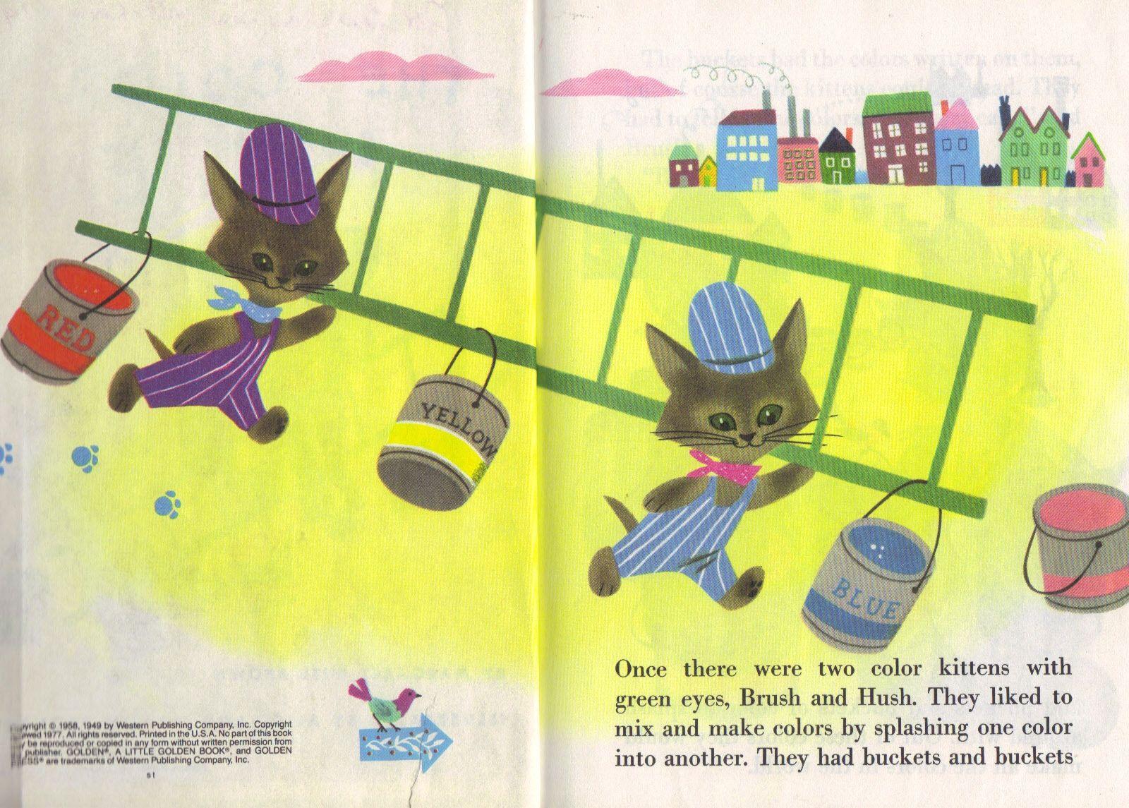The Color Kittens Childrens Books Illustrations Vintage Children Kittens