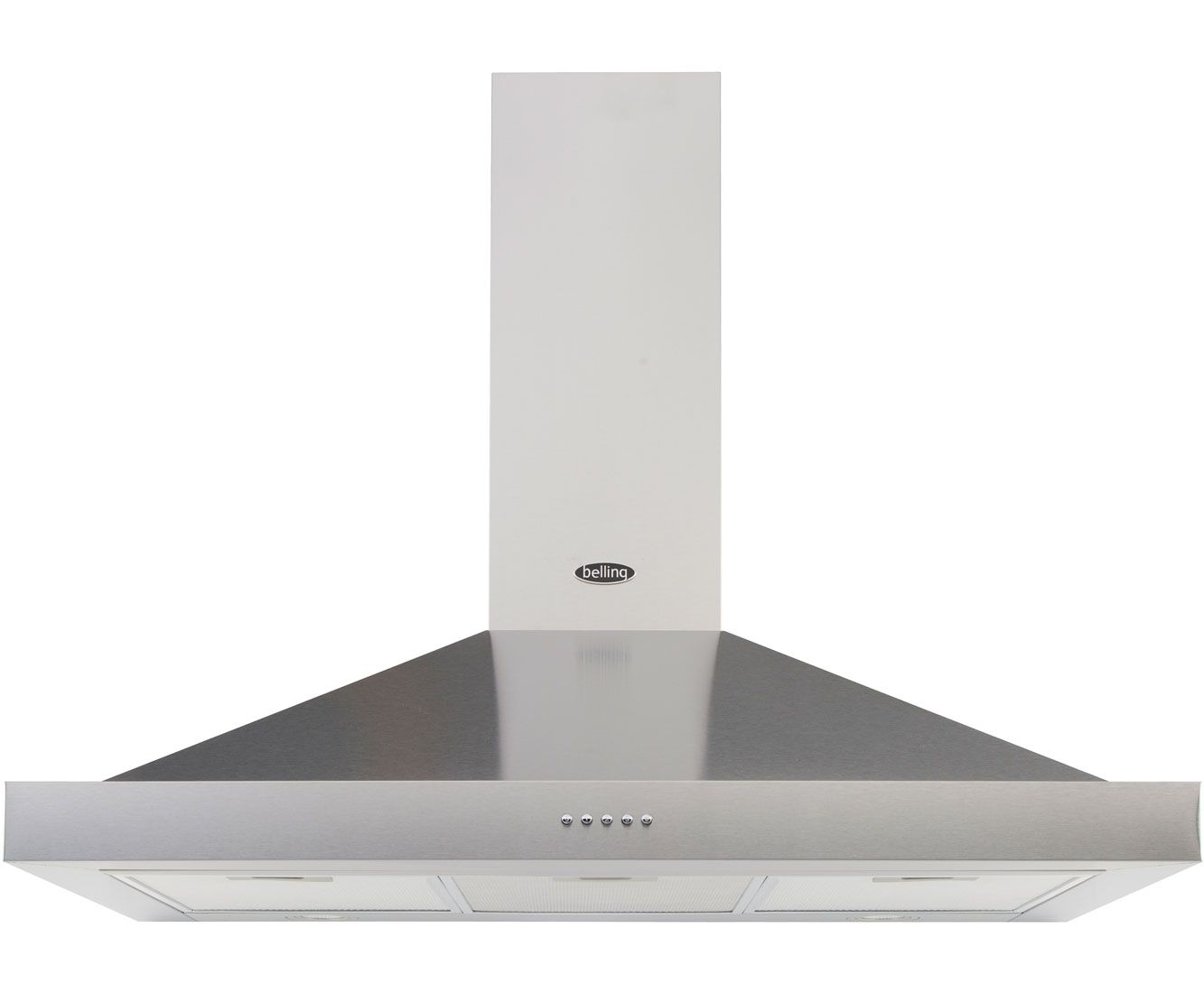 Belling 90DBCHIM Built In Chimney Cooker Hood - Stainless Steel