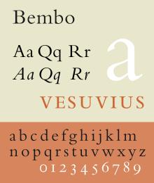 Bembo Old Style Serif Garamond Font Typography Serif