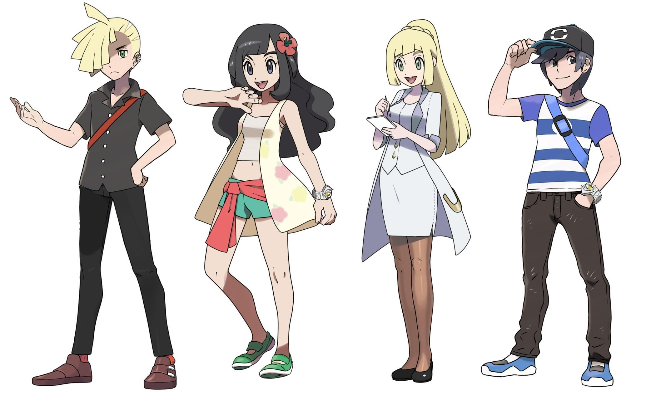Haircut styles in pokemon sun and moon pin by abu on pokemon characters  pinterest  pokémon anime and