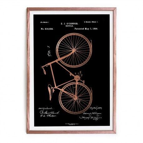 Comprar Cuadro Cobre Bicycle Online | Cobre, Cuadro y Cuadros enmarcados