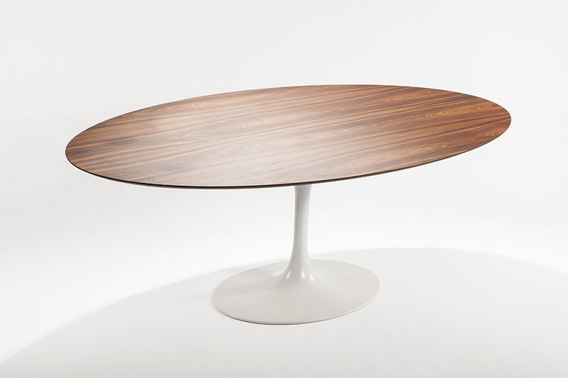 Saarinen Style Tulip Walnut Brown Dining Table Mid Century Modern Designer  Furniture Replicas And Reproductions