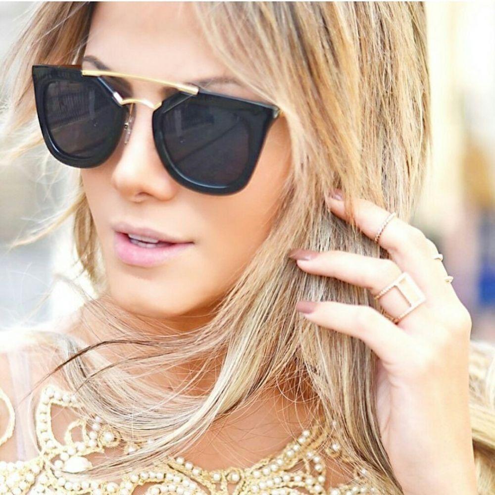 Óculos Prada Marrom Fosco Geometric - Chaves Store   Chaves Store 1b83bcea3c