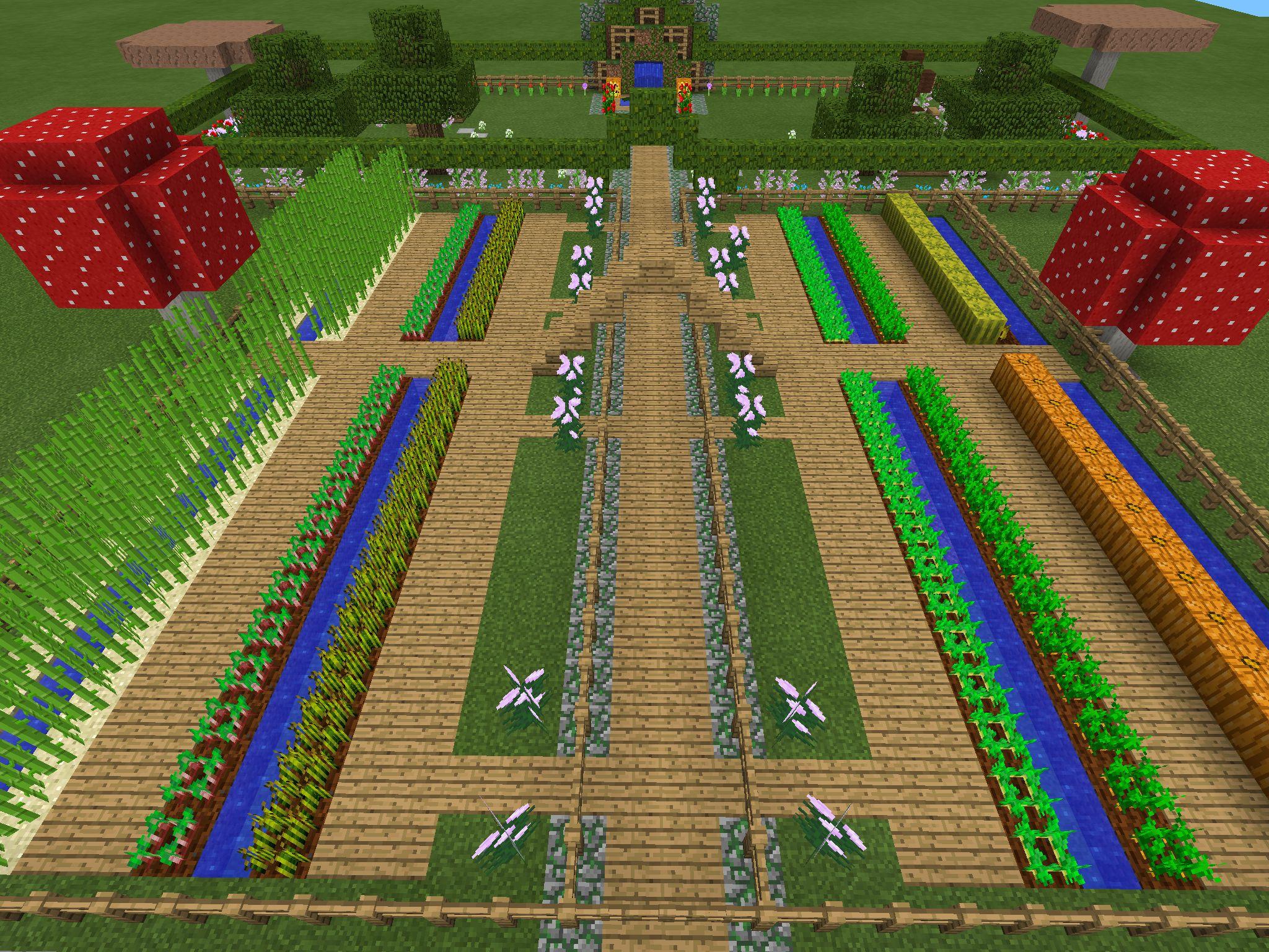 Minecraft garden