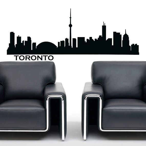 toronto skyline wall decal vinyl sticker city silhouette wll decals