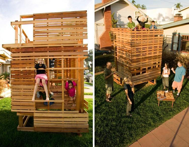 modernes spielhaus aus echtholz für den hinterhof | spielhaus,