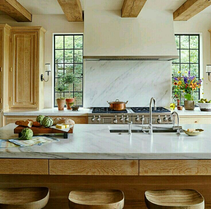 Light Oak,white Counters And Love The Black Trimmed