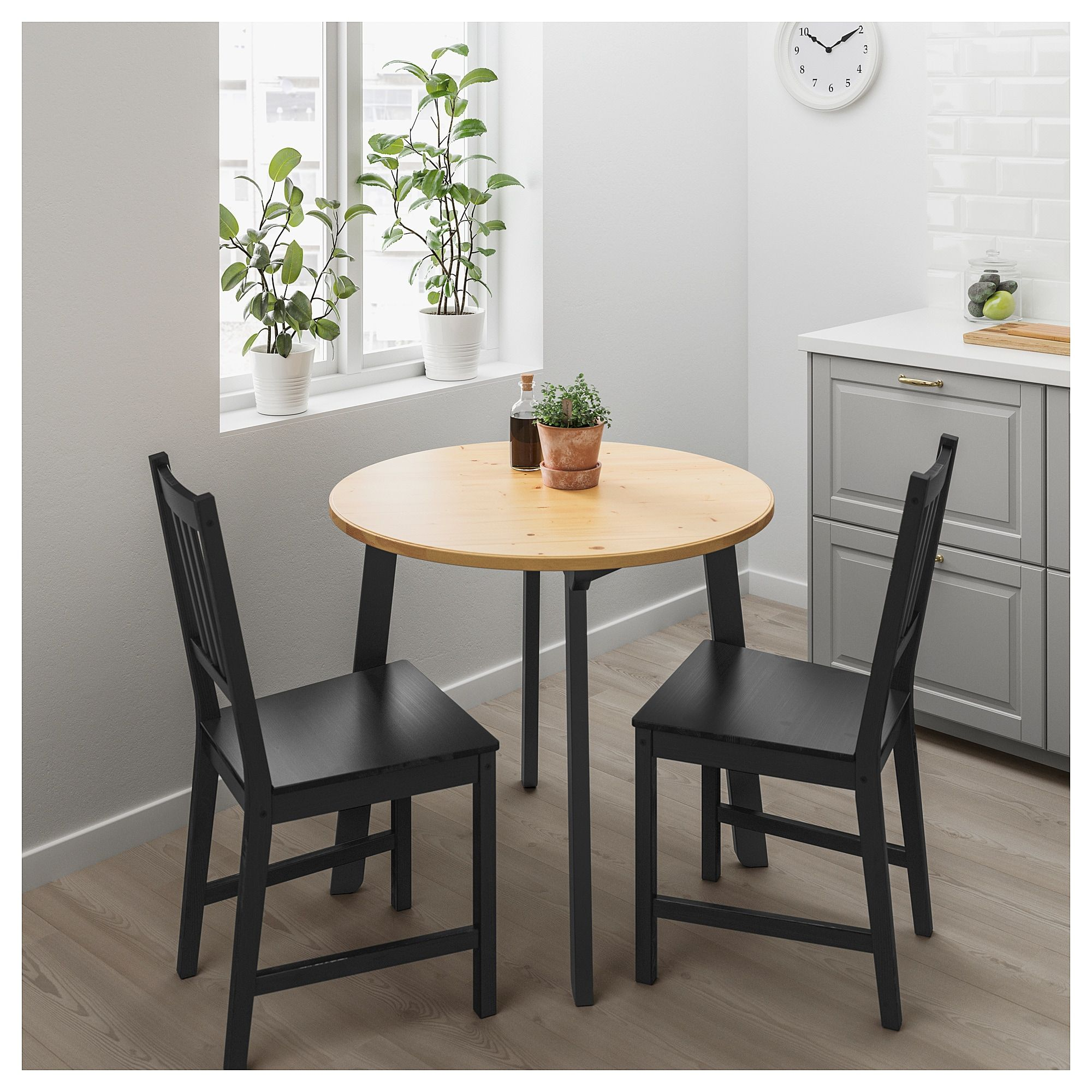 Small Round Dining Table Ikea Gamlared Table Light Antique Stain Black Stained House Small
