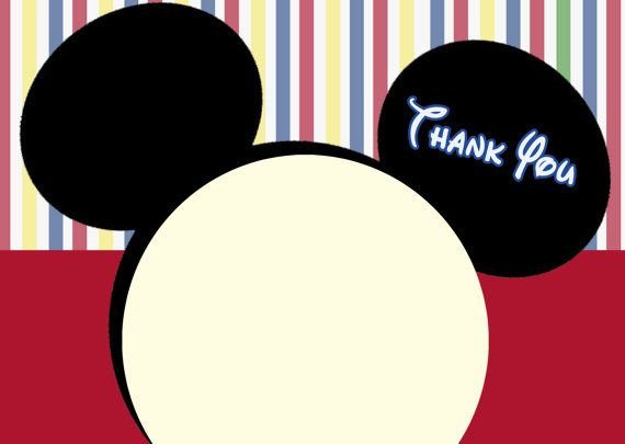 Mickey Mouse Clubhouse Thank You Cards Mickey Mouse By Cmldesigns