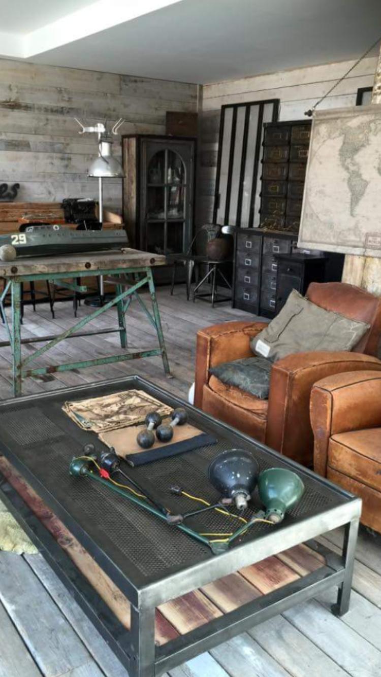 ambiance industriel vintage ldt l 39 or du temps vintage industrial pinterest decoraci n. Black Bedroom Furniture Sets. Home Design Ideas