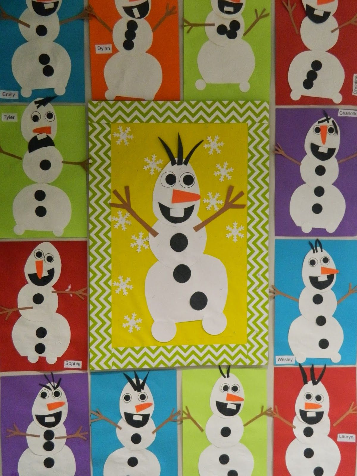 Olaf Snowmen From The Movie Frozen January Pinterest Basteln