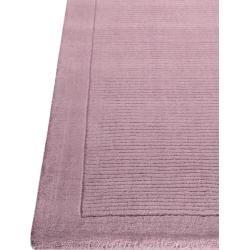 Photo of benuta Wollteppich Uni Rosa 80×150 cm – Naturfaserteppich aus Wolle benuta