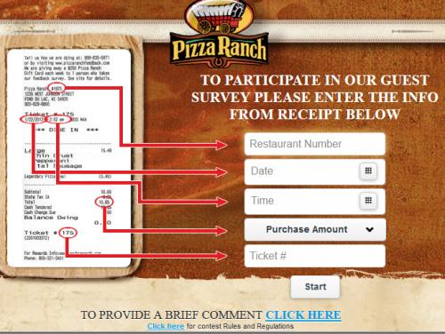 Pizza Ranch Guest Satisfaction Survey, www ...