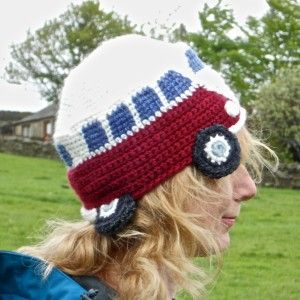 Crocheted Campervan Beanie Hat #beaniehats
