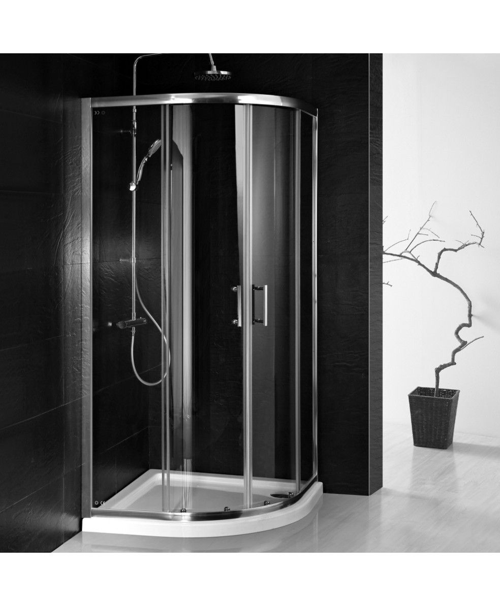 800mm x 800mm Double Door Quadrant Shower Enclosure and Shower Tray ...