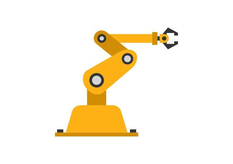 Robotic Arm Industrial Vector Robot Arm Logo Design Tutorial Vector
