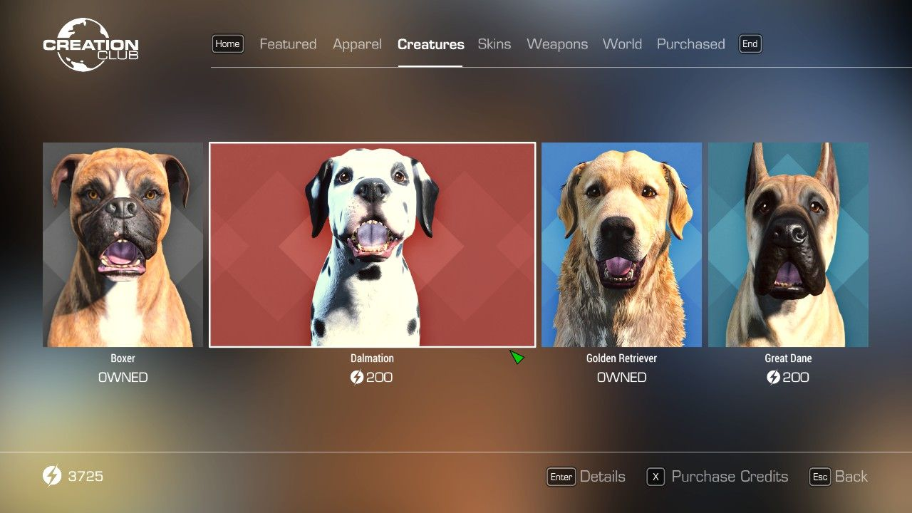 The Dalmatian and great Dane dog breeds are now available in