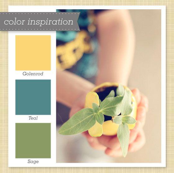 yellow, teal, & green color palette 25 | colori tono verde