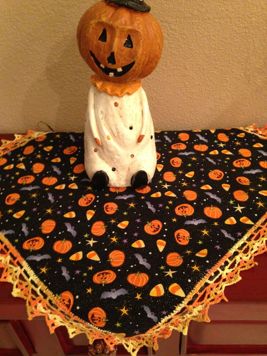 Halloween Table Decoration / Basket Liner / Bread Cloth / Doilies - Halloween Table Decorations Pinterest