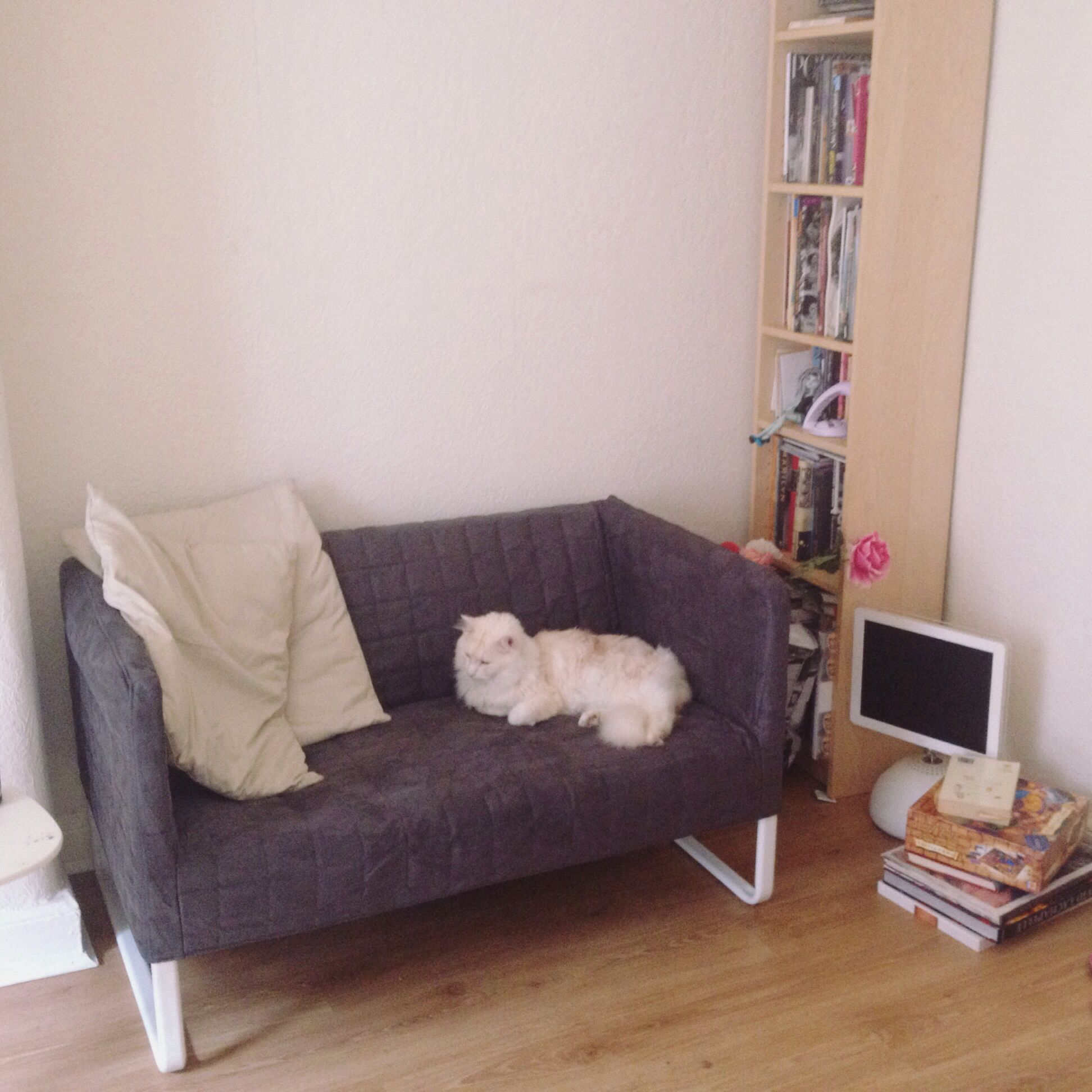 Ikea Knopparp Two Seater Couch Love Seat I Built This Last Night For My New Flat And It S A Perfect Example Lounge Room Design Guest Room Office Diy Sofa