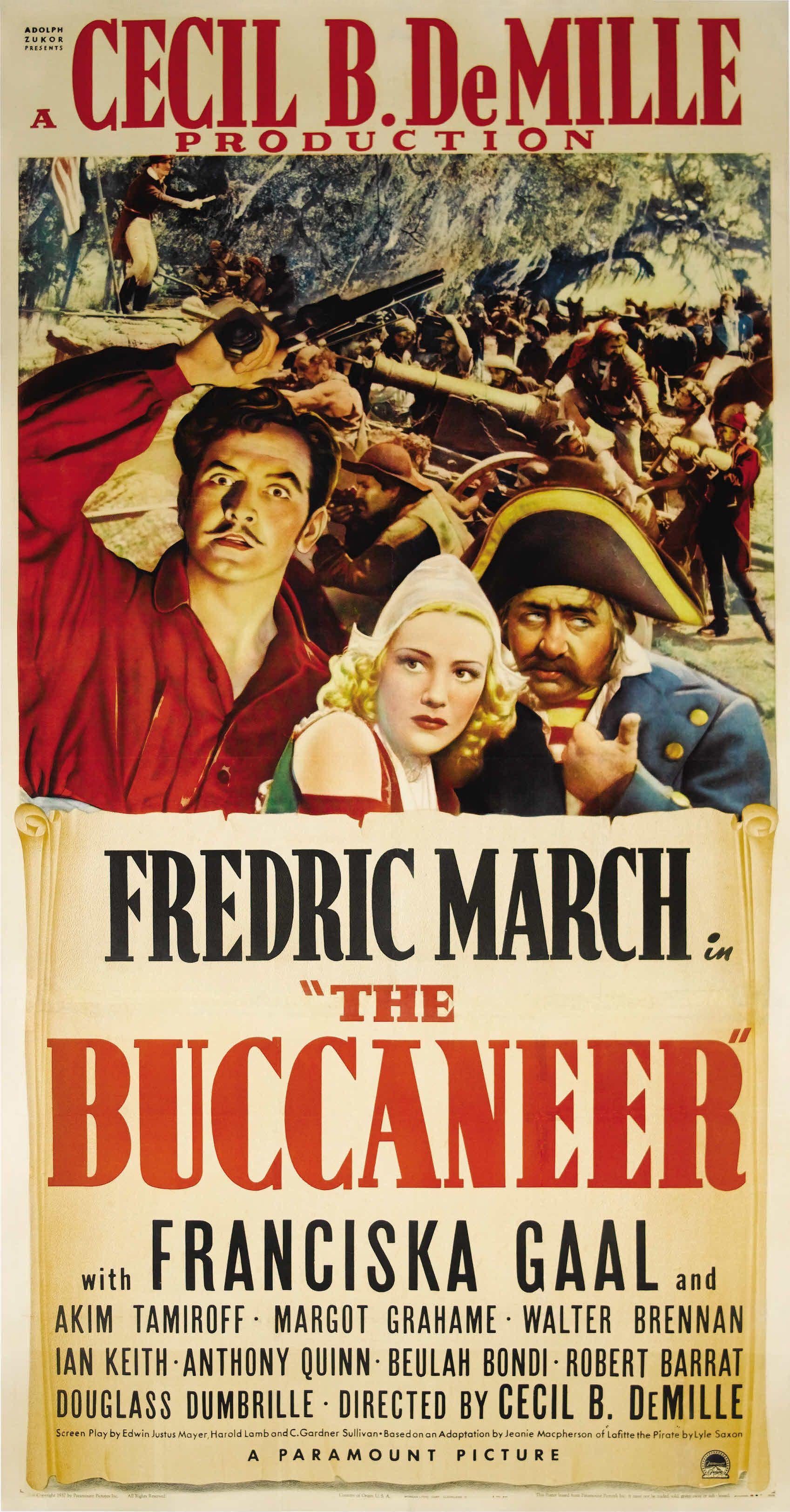 The Buccaneer (1938) Movie posters, Pirate movies, Movie
