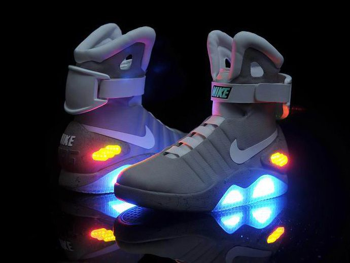 Marty McFly Nike's for Sale | Model: Nike Air Mag Back To Future Shoes Marty