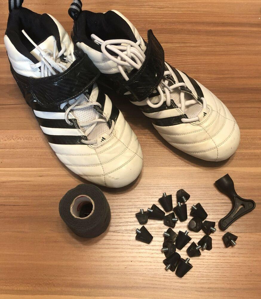 Adidas football cleats size 10 mens white black vintage