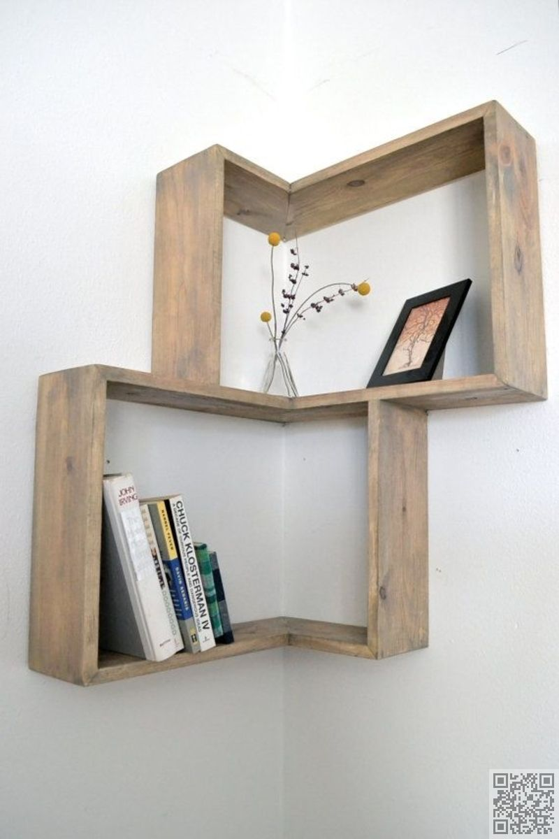 11. #Corner Box Shelf - #Shelfies: the Best DIY Shelves ... → DIY #Ideas