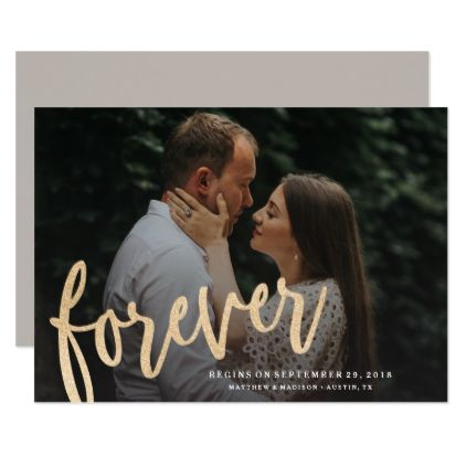 Forever Save the Date Photo Announcement