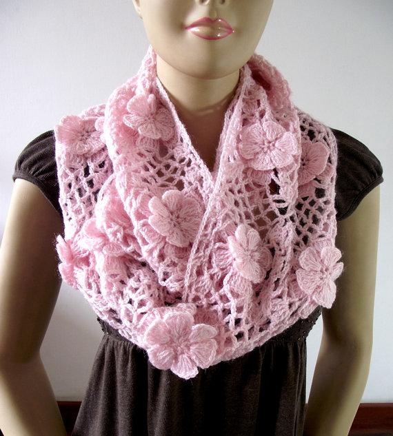 CROCHET PATTERN SCARF - Floral Whisper scarf - Lace Crochet Scarf ...