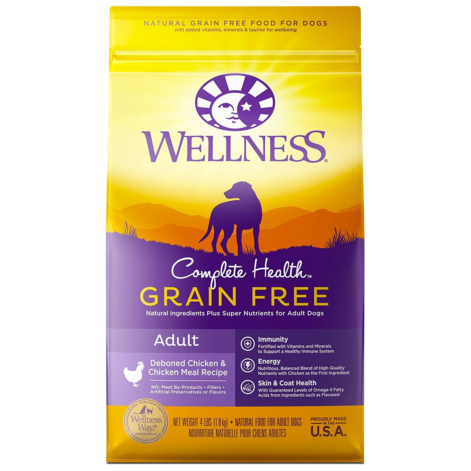 Wellness Complete Health Natural Grain Free Dry Dog Food Chicken 4 Pound Bag Quickly View This Special Dog Product Click The I Dry Dog Food Natural Pet Food Dry Cat Food