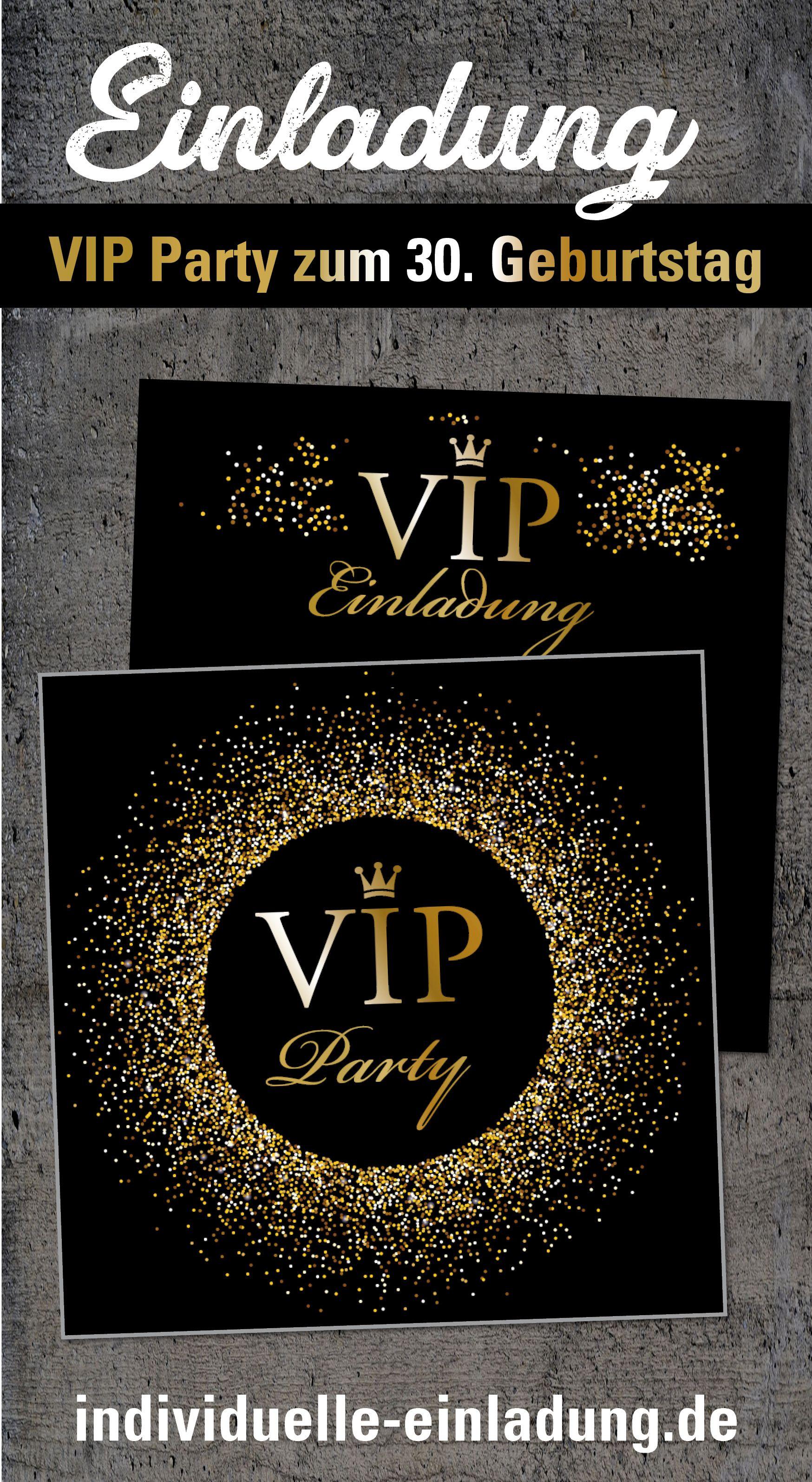 Einladung Zum 30 Geburtstag Quadratisch Vip Party Party Einladung