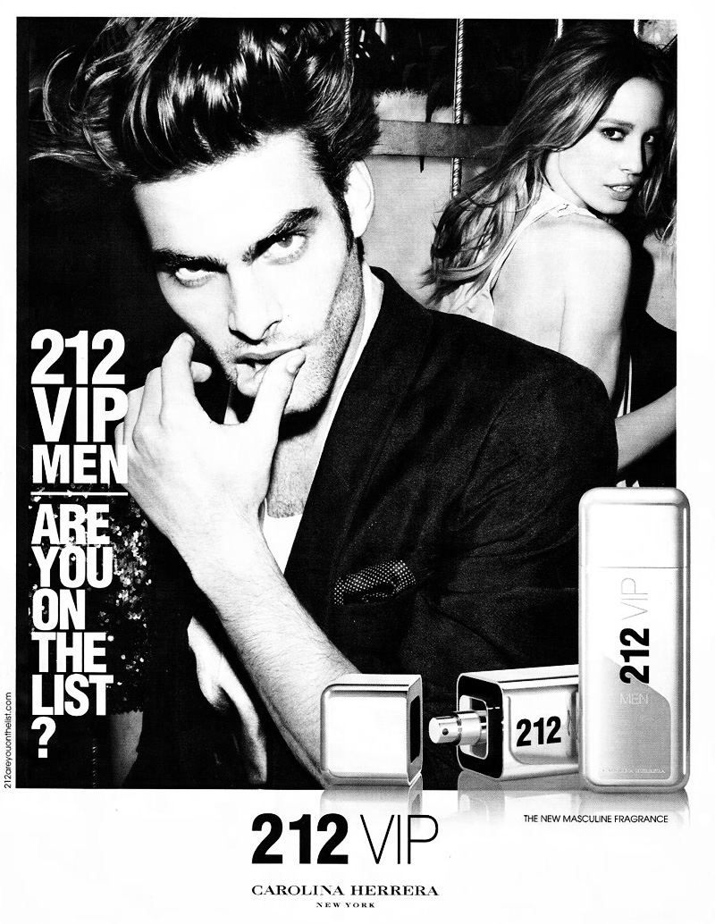 Jon Kortajarena For Carolina Herrera 212 Vip Fragrance Campaign