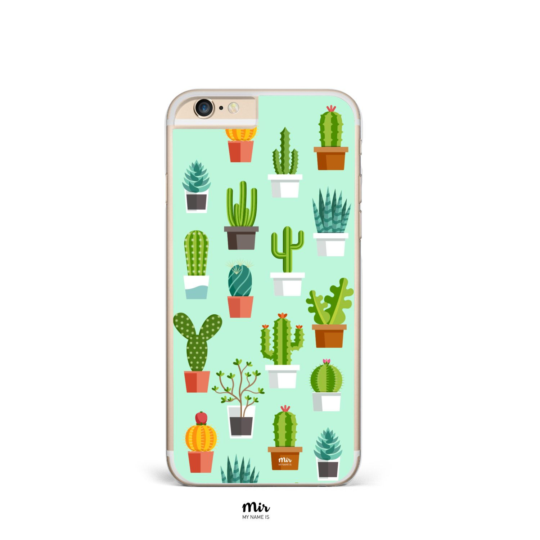 a0ac0db1d52 Funda Carcasa Móvil Transparente CACTUS Planta Verde Love Tumblr Insta  iPhone 7 6 6s Plus SE 5 5S 5C Samsung Galaxy S7 S6 Motorola Huawei P8 de  MyNameIsMir ...