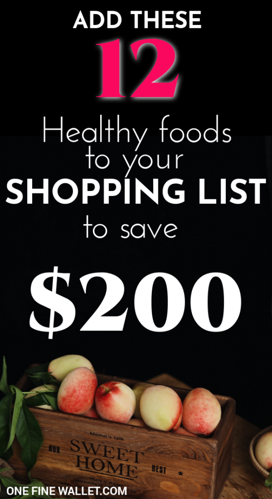 Here is a healthy grocery shopping list when you are on a budget, and yet  want to eat healthy. This is sure to cut your grocery bill and save you $200  a ...