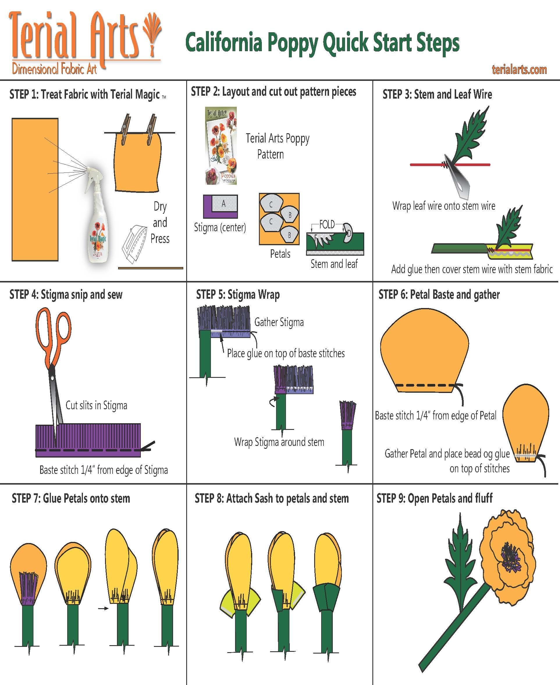 Make Terial Arts California Poppy in 9 easy to follow steps
