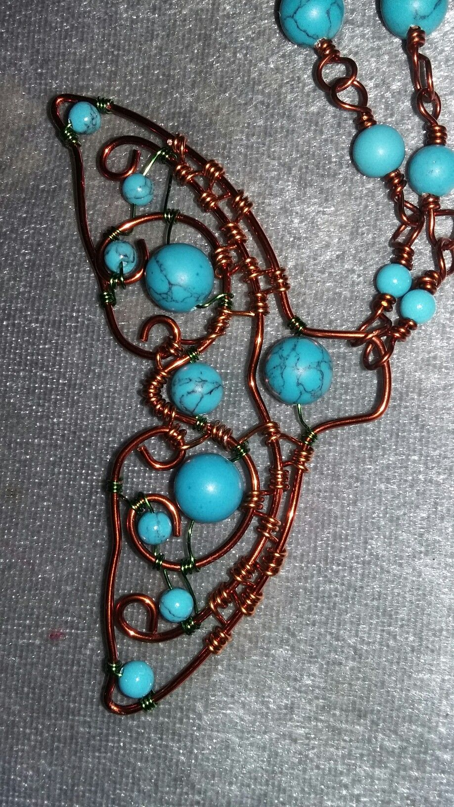 Whale tail wire wrap imitation turquoise   Wirewrapping   Pinterest ...
